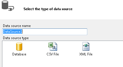 Different types of data sources in Visual Studio
