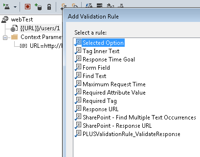 Add validation rules in your web tests
