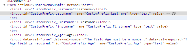 The HtmlFieldPrefix as in gets rendered inside the CSS ids
