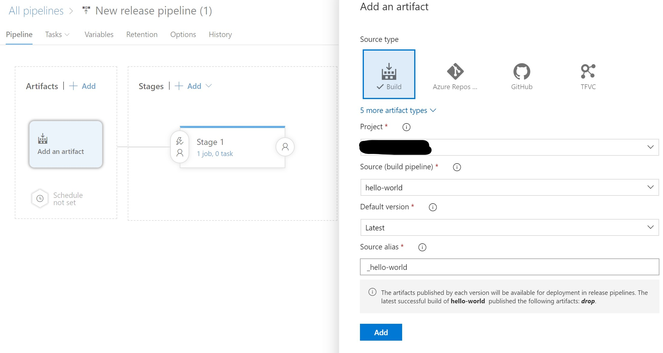 Create a new Release in Azure DevOps